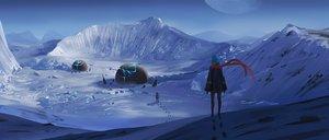 Rating: Safe Score: 92 Tags: landscape moon scarf scenic snow winter z-qy2000 User: mattiasc02