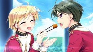 Rating: Safe Score: 19 Tags: akatsuki-works food game_cg hello_lady! katsuragi_sorako male narita_shinri saeki_hokuto User: Maboroshi