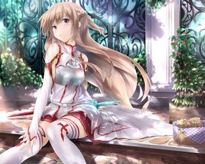 Rating: Safe Score: 357 Tags: brown_eyes brown_hair cropped long_hair sword_art_online thighhighs wingheart yuuki_asuna User: RyuZU