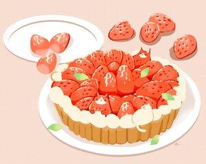 Rating: Safe Score: 13 Tags: animal cat chai_(artist) food fruit nobody original polychromatic signed strawberry User: otaku_emmy