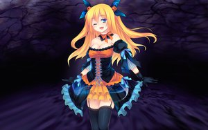 Rating: Questionable Score: 129 Tags: aizawa_hikaru cleavage halloween lolita_fashion microsoft shinia thighhighs User: w7382001