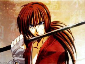 Rating: Safe Score: 22 Tags: all_male blue_eyes himura_kenshin katana male rurouni_kenshin scar sword weapon User: Moony