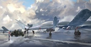 Rating: Safe Score: 97 Tags: aircraft clouds combat_vehicle confin military original scenic User: Flandre93