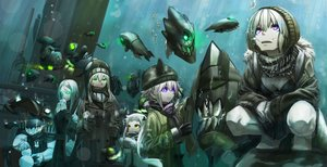 Rating: Safe Score: 187 Tags: aircraft anthropomorphism battleship_hime breasts bubbles cleavage destroyer_hime gloves gray_hair green_eyes group ha-class_destroyer hat he-class_light_cruiser ho-class_light_cruiser i-class_destroyer kantai_collection kirii long_hair ni-class_destroyer northern_ocean_hime pink_eyes re-class_battleship ro-class_destroyer scarf short_hair ta-class_battleship underwater wa-class_transport_ship water wo-class_aircraft_carrier yo-class_submarine User: Flandre93