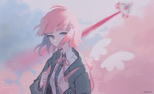 Rating: Safe Score: 29 Tags: aircraft clouds dangan-ronpa dangan-ronpa_2 nanami_chiaki pink_eyes pink_hair polychromatic remonoart school_uniform short_hair signed sky wings User: otaku_emmy