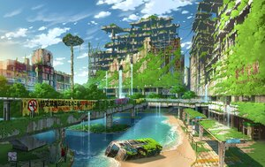Rating: Safe Score: 52 Tags: building city clouds original ruins scenic sky tokyogenso water User: Maboroshi