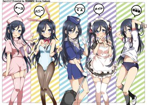 Rating: Safe Score: 306 Tags: aragaki_ayase black_hair bunny_ears bunnygirl gym_uniform maid nurse ore_no_imouto_ga_konna_ni_kawaii_wake_ga_nai pantyhose thighhighs twintails uniform yasuda User: opai