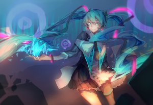 Rating: Safe Score: 30 Tags: hatsune_miku long_hair qi_he_ye twintails vocaloid User: luckyluna
