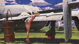 Rating: Safe Score: 99 Tags: aircraft ass barefoot blonde_hair clouds grass nude original pandarou short_hair wings User: Flandre93