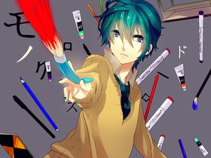 Rating: Safe Score: 29 Tags: gray hatsune_mikuo kyama tie vocaloid User: MissBMoon
