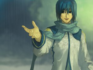 Rating: Safe Score: 13 Tags: blue_eyes blue_hair bob_(biyonbiyon) kaito rain scarf short_hair vocaloid wet User: MissBMoon