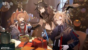 Rating: Safe Score: 41 Tags: angelina_(arknights) animal_ears arknights blonde_hair blue_eyes brown_hair christmas drink earthspirit_(arknights) gloves gray_eyes horns logo long_hair meteor_(arknights) ponytail red_eyes tagme_(artist) twintails User: Nepcoheart