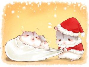 Rating: Safe Score: 27 Tags: animal blush christmas hat nobody orange original santa_costume santa_hat sleeping wink yutaka_kana User: otaku_emmy