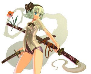 Rating: Questionable Score: 84 Tags: cameltoe katana konpaku_youmu sakuya_tsuitachi school_swimsuit swimsuit sword touhou weapon wet User: 秀悟