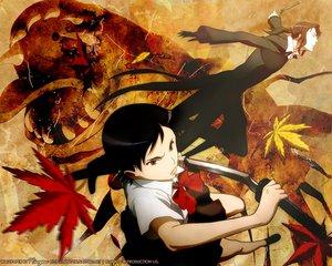 Rating: Safe Score: 5 Tags: blood_(anime) haji otonashi_saya sword weapon User: Oyashiro-sama