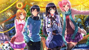 Rating: Safe Score: 92 Tags: black_hair brown_eyes brown_hair christmas city fireworks green_eyes group hikigaya_hachiman isshiki_iroha long_hair male night panda pantyhose pink_eyes pink_hair scarf short_hair skirt swordsouls thighhighs wink yahari_ore_no_seishun_love_come_wa_machigatteiru. yuigahama_yui yukinoshita_yukino User: humanpinka