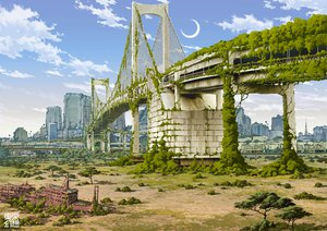 Rating: Safe Score: 145 Tags: clouds jpeg_artifacts landscape original ruins scenic tokyogenso User: connardman