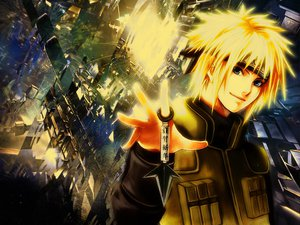 Rating: Safe Score: 51 Tags: blonde_hair blue_eyes male namikaze_minato naruto short_hair weapon User: Tensa