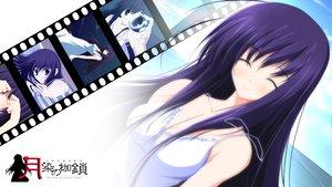 Rating: Safe Score: 64 Tags: dress long_hair nazo_no_shoujo purple_hair tsukinon tsukisome_no_kasa User: oranganeh