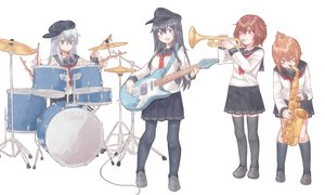 Rating: Safe Score: 35 Tags: akatsuki_(kancolle) anthropomorphism aqua_eyes az_toride black_hair brown_eyes brown_hair drums gray_hair group guitar hat hibiki_(kancolle) ikazuchi_(kancolle) inazuma_(kancolle) instrument kantai_collection kneehighs long_hair pantyhose school_uniform short_hair skirt thighhighs white wink User: otaku_emmy