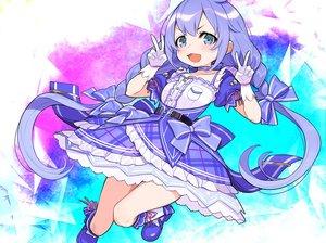 Rating: Safe Score: 25 Tags: blue_eyes blue_hair blush bow braids cat_smile cropped dress gloves loli long_hair nijisanji twintails yuu_(higashi_no_penguin) yuuki_chihiro User: otaku_emmy