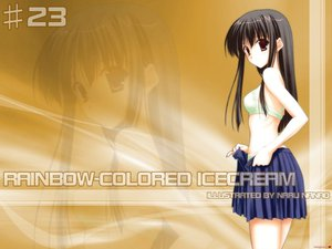 Rating: Safe Score: 6 Tags: bra nanao_naru panties rainbow_colored_icecream skirt underwear User: Zero