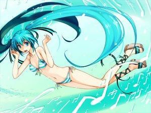 Rating: Safe Score: 64 Tags: bikini hatsune_miku swimsuit twintails vocaloid User: HawthorneKitty