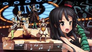 Rating: Safe Score: 23 Tags: akiyama_mio ddal group guitar hirasawa_yui instrument k-on! kotobuki_tsumugi microphone tainaka_ritsu User: rargy