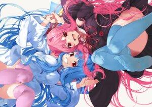 Rating: Safe Score: 56 Tags: 2girls blue_hair dress kotonoha_akane kotonoha_aoi long_hair pink_hair red_eyes thighhighs twins voiceroid yappen User: otaku_emmy