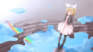 Rating: Safe Score: 65 Tags: bow kagamine_rin rainbow vocaloid yayoi_(egoistic_realism) User: HawthorneKitty
