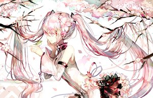 Rating: Safe Score: 121 Tags: animal bird cherry_blossoms flowers hatsune_miku long_hair pink_eyes pink_hair polychromatic rooseputo_02 sakura_miku tree twintails vocaloid User: luckyluna
