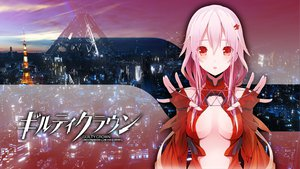 Rating: Safe Score: 204 Tags: city cleavage guilty_crown photoshop pink_hair red_eyes rokunasi_hitonasi yuzuriha_inori User: Toshiro.A
