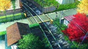 Rating: Safe Score: 75 Tags: building city grass niko_p nobody original scenic signed train tree User: RyuZU