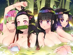 Rating: Questionable Score: 121 Tags: black_hair gag group kamado_nezuko kanroji_mitsuri kimetsu_no_yaiba kochou_shinobu long_hair nude onsen pink_eyes purple_eyes short_hair tsuyuri_kanao waterring User: Fepple
