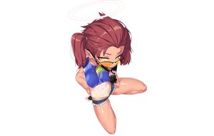 Rating: Safe Score: 25 Tags: aliasing bikini blue_archive dev gloves halo mask pointed_ears red_hair short_hair shorts skintight spread_legs sunglasses swimsuit tagme_(character) tan_lines twintails white yellow_eyes User: otaku_emmy