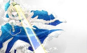 Rating: Safe Score: 88 Tags: artoria_pendragon_(all) blonde_hair dress fate_(series) fate/stay_night fate/zero green_eyes lightsaber ribbons saber supika_(piyuki0911) sword weapon User: Maboroshi