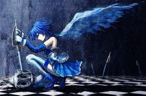 Rating: Safe Score: 74 Tags: blue_eyes blue_hair cape elbow_gloves mahou_shoujo_madoka_magica miki_sayaka oktavia_von_sekendorff short_hair skirt sword thighhighs total weapon User: minabiStrikesAgain