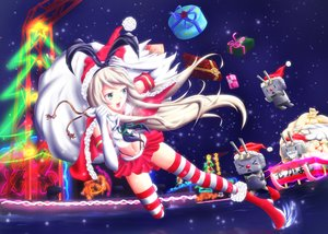 Rating: Safe Score: 49 Tags: anthropomorphism blonde_hair boots cape christmas elbow_gloves error_musume_(kancolle) gloves green_eyes hat headband kantai_collection long_hair matatabi_(skunim01) naka_(kancolle) navel rensouhou-chan santa_costume santa_hat shimakaze_(kancolle) skirt snow thighhighs User: C4R10Z123GT