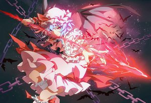 Rating: Safe Score: 86 Tags: chain jpeg_artifacts kumio remilia_scarlet touhou wings User: FormX