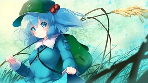 Rating: Safe Score: 22 Tags: aqua_eyes aqua_hair blush gengetsu_chihiro hat kawashiro_nitori long_hair skirt skirt_lift touhou User: RyuZU