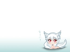 Rating: Questionable Score: 45 Tags: animal_ears breasts chibi cleavage collar foxgirl kisumi nude original red_eyes sesaline tail white white_hair User: kisumi