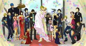 Rating: Safe Score: 31 Tags: awakusu_akane brezhnev_simon celty_sturluson durarara!! heiwajima_kasuka heiwajima_shizuo hijiribe_ruri kadota_kyohei karisawa_erika kida_masaomi kishitani_shinra orihara_izaya orihara_mairu ryuugamine_mikado sonohara_anri tanaka_tom togusa_saburou vorona wedding wedding_attire yumasaki_walker User: Tensa