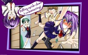 Rating: Safe Score: 15 Tags: blush green_hair karin maaka_karin purple_hair school_uniform tokitou_maki usui_kenta User: 秀悟