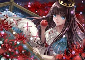 Rating: Safe Score: 127 Tags: apple crown flowers food fruit marchen_von_friedhof monogo sound_horizon User: FormX