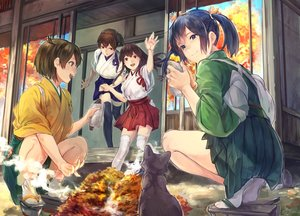Rating: Safe Score: 39 Tags: akagi_(kancolle) animal anthropomorphism blue_eyes brown_hair cat fukazaki group hiryuu_(kancolle) japanese_clothes kaga_(kancolle) kantai_collection long_hair ponytail short_hair souryuu_(kancolle) thighhighs twintails User: RyuZU