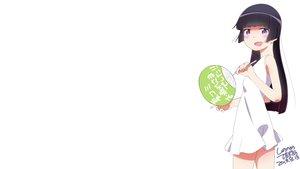 Rating: Safe Score: 6 Tags: fan gokou_ruri long_hair ore_no_imouto_ga_konna_ni_kawaii_wake_ga_nai purple_eyes purple_hair signed summer_dress suzumeko white User: Freenight