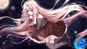 Rating: Safe Score: 88 Tags: an-mar dress earth ia planet space thighhighs vocaloid User: FormX