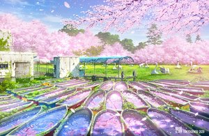 Rating: Safe Score: 73 Tags: boat cherry_blossoms flowers original petals ruins scenic tokyogenso watermark User: FormX