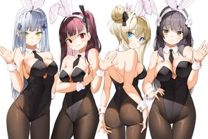 Rating: Safe Score: 231 Tags: animal_ears anthropomorphism ass ass_grab breast_hold breasts bunny_ears bunnygirl cleavage girls_frontline group hk416_(girls_frontline) lee_seok_ho long_hair pantyhose suomi_(girls_frontline) tie type_95_(girls_frontline) wa2000_(girls_frontline) wristwear User: Dreista