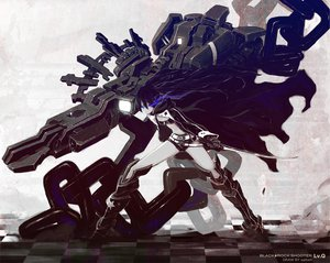 Rating: Safe Score: 59 Tags: black_rock_shooter gun kuroi_mato saitom sword weapon User: HawthorneKitty